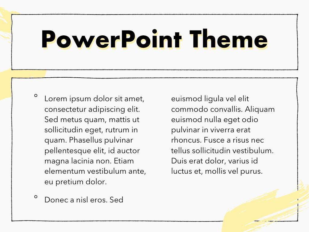 Sketched PowerPoint Theme, Slide 5, 05083, Presentation Templates — PoweredTemplate.com