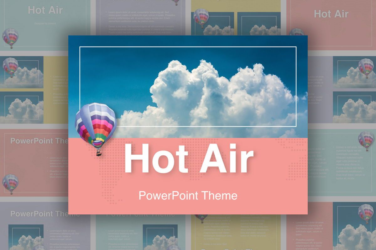 Hot Air PowerPoint Theme, 05084, Presentation Templates — PoweredTemplate.com