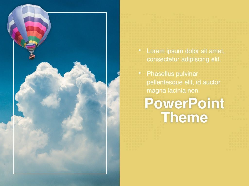 Hot Air PowerPoint Theme, Slide 20, 05084, Presentation Templates — PoweredTemplate.com