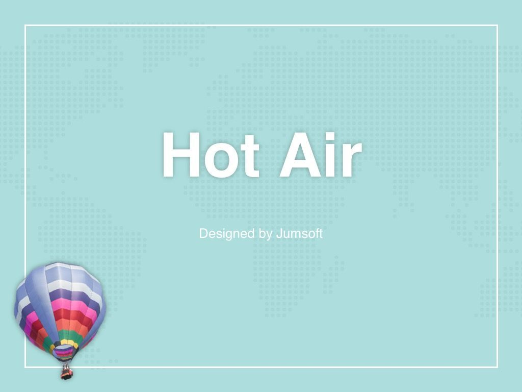 Hot Air PowerPoint Theme, Slide 3, 05084, Presentation Templates — PoweredTemplate.com