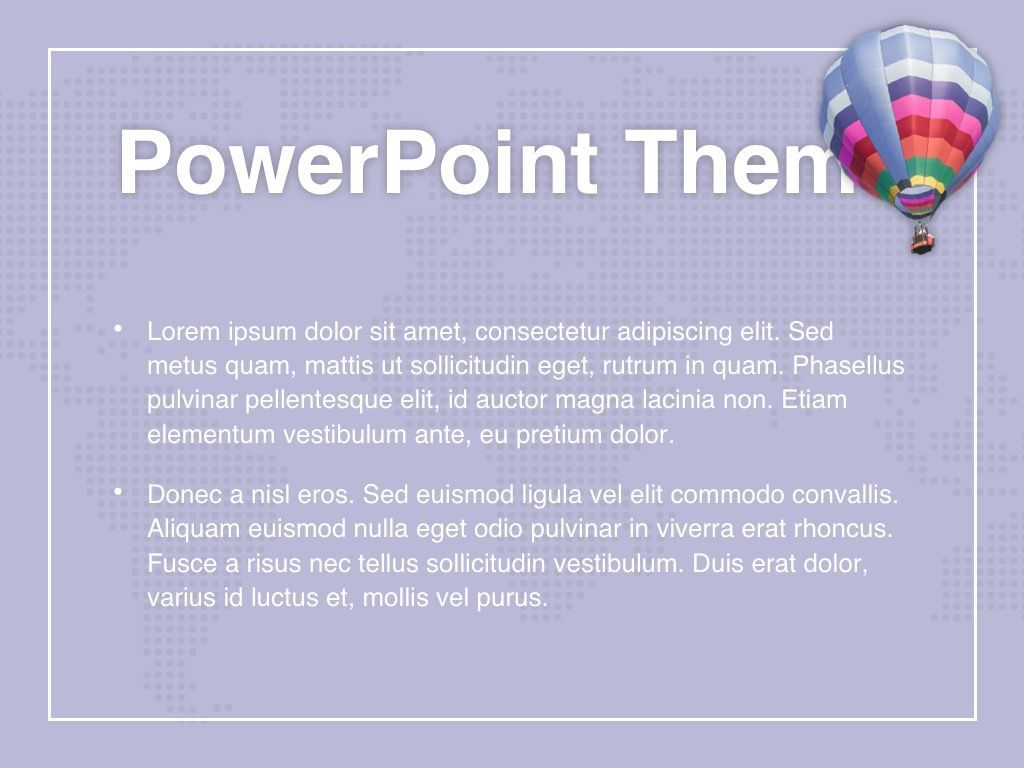 Hot Air PowerPoint Theme, Slide 4, 05084, Presentation Templates — PoweredTemplate.com