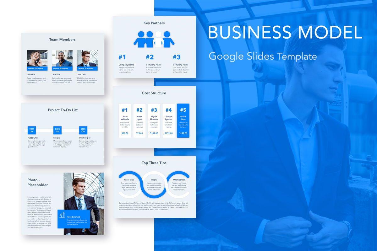 Business Model Google Slides, 05085, Business Models — PoweredTemplate.com
