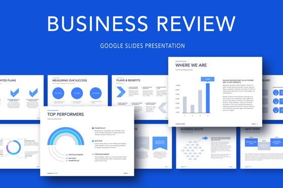 Business Models: Business Review Google Slides Template #05087