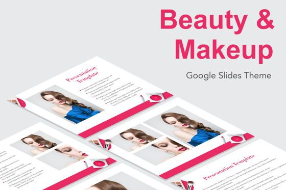 Presentation Templates: Beauty Makeup Google Slides Theme #05088