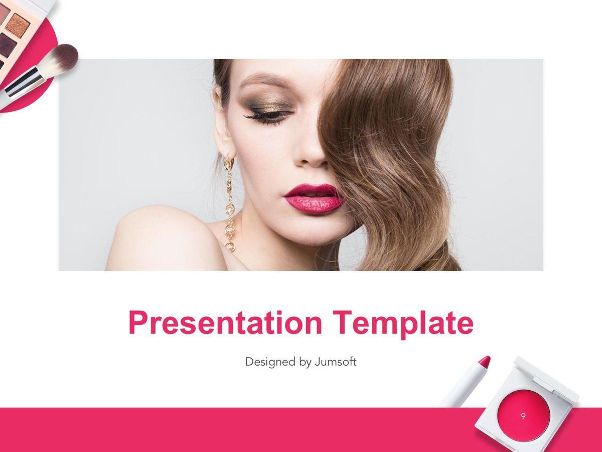 Beauty Makeup Google Slides Theme, Slide 10, 05088, Presentation Templates — PoweredTemplate.com