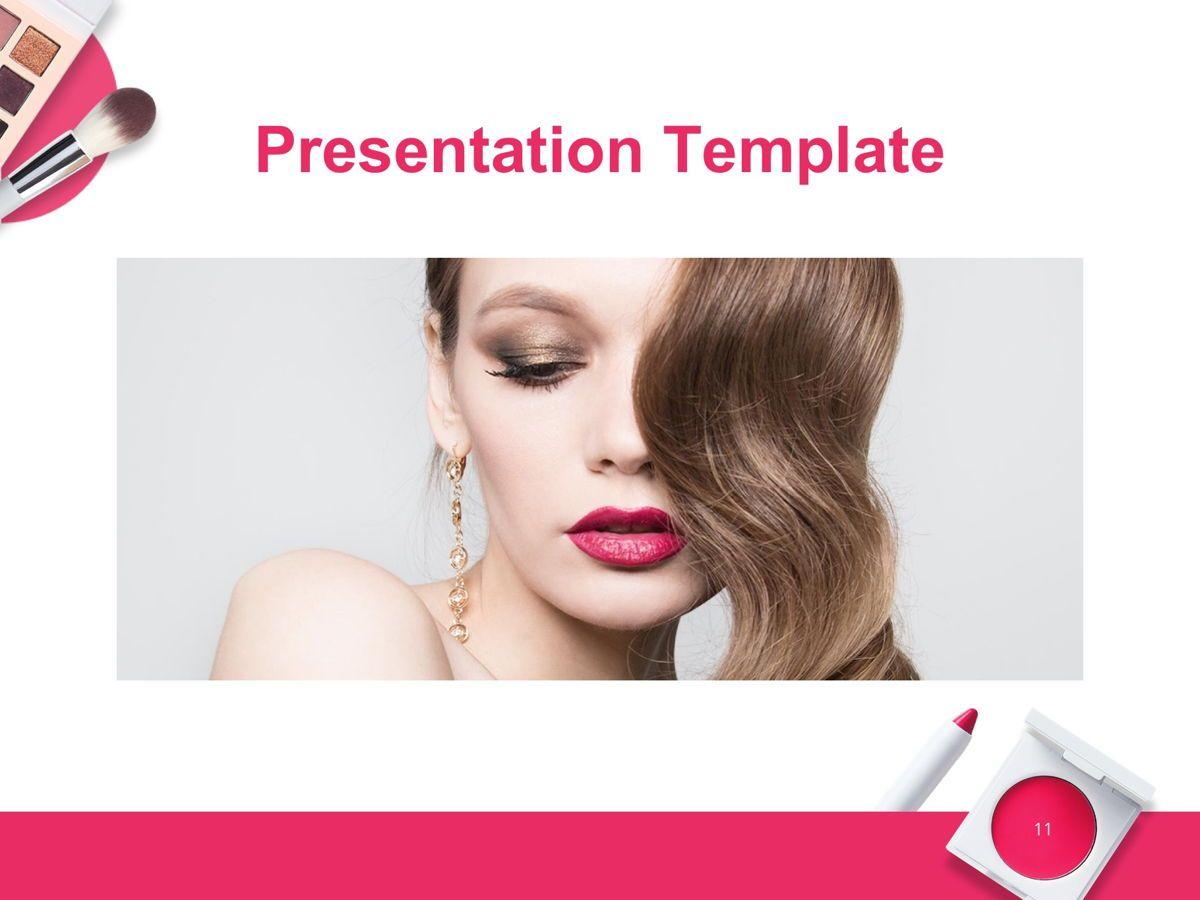 Beauty Makeup Google Slides Theme, Slide 12, 05088, Presentation Templates — PoweredTemplate.com