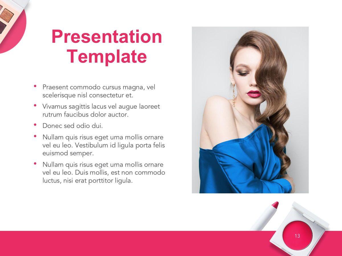 Beauty Makeup Google Slides Theme, Slide 14, 05088, Presentation Templates — PoweredTemplate.com