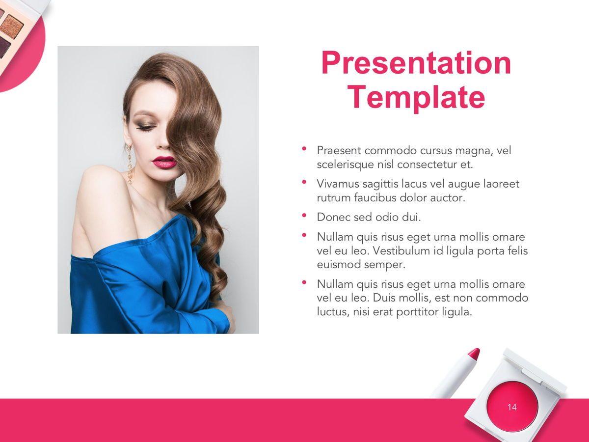 Beauty Makeup Google Slides Theme, Slide 15, 05088, Presentation Templates — PoweredTemplate.com