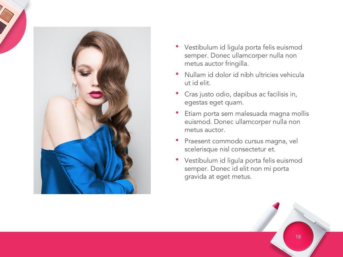 Beauty Makeup Google Slides Theme, Slide 19, 05088, Presentation Templates — PoweredTemplate.com