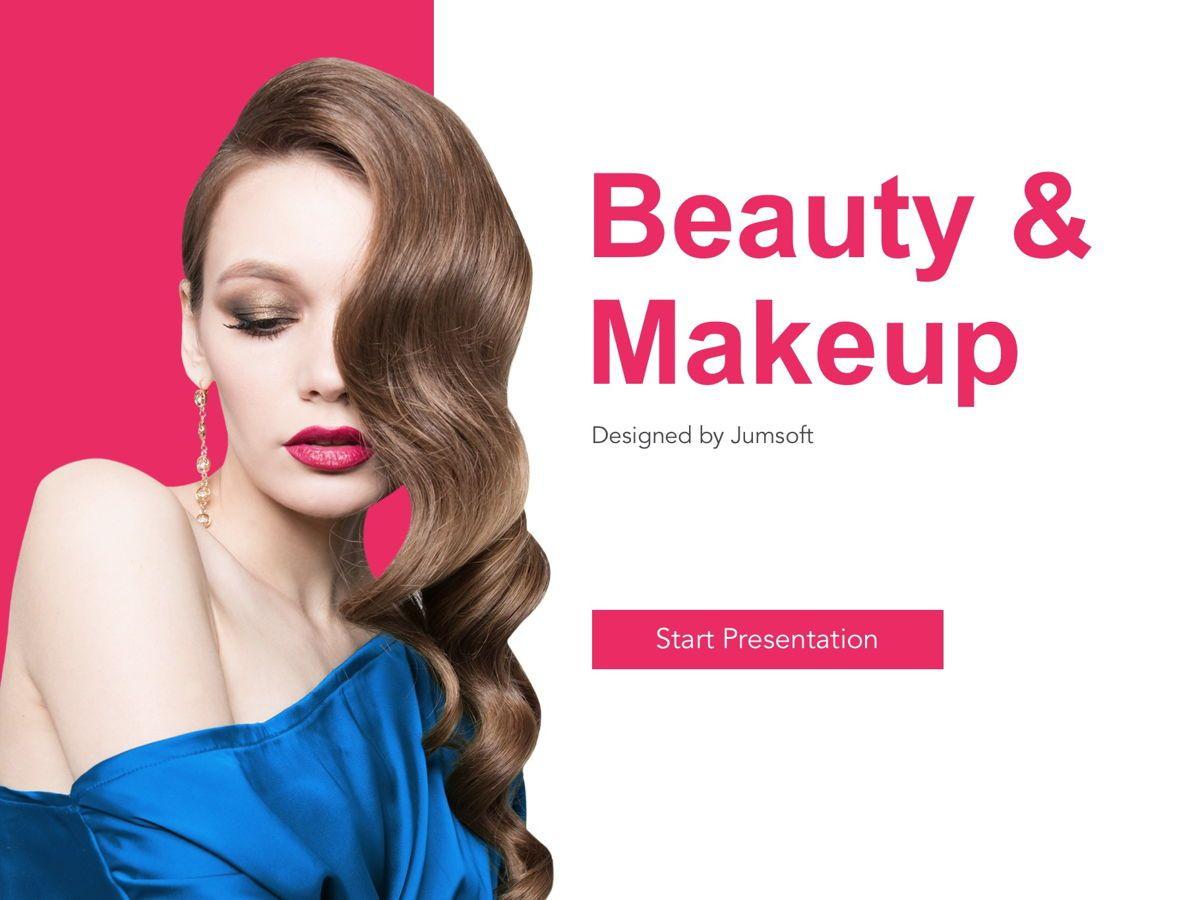 Beauty Makeup Google Slides Theme, Slide 2, 05088, Presentation Templates — PoweredTemplate.com
