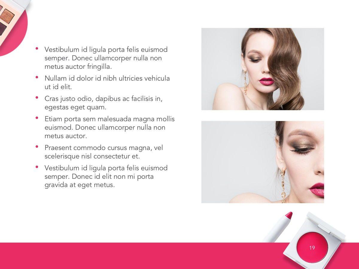 Beauty Makeup Google Slides Theme, Slide 20, 05088, Presentation Templates — PoweredTemplate.com