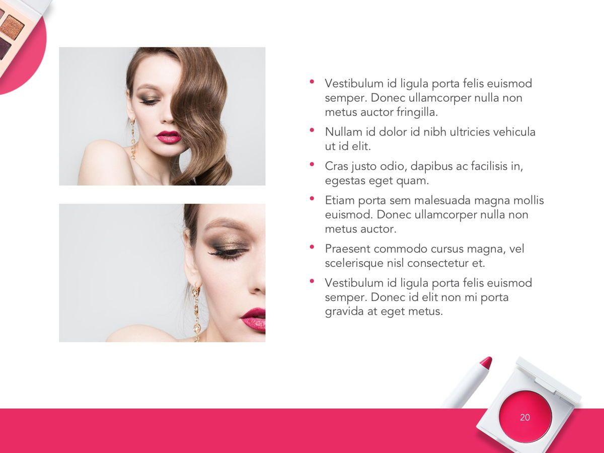 Beauty Makeup Google Slides Theme, Slide 21, 05088, Presentation Templates — PoweredTemplate.com
