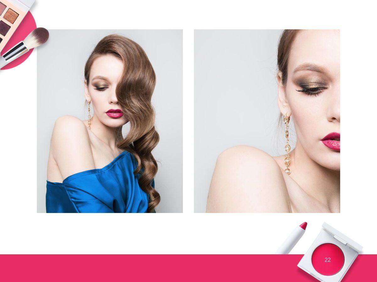 Beauty Makeup Google Slides Theme, Slide 23, 05088, Presentation Templates — PoweredTemplate.com