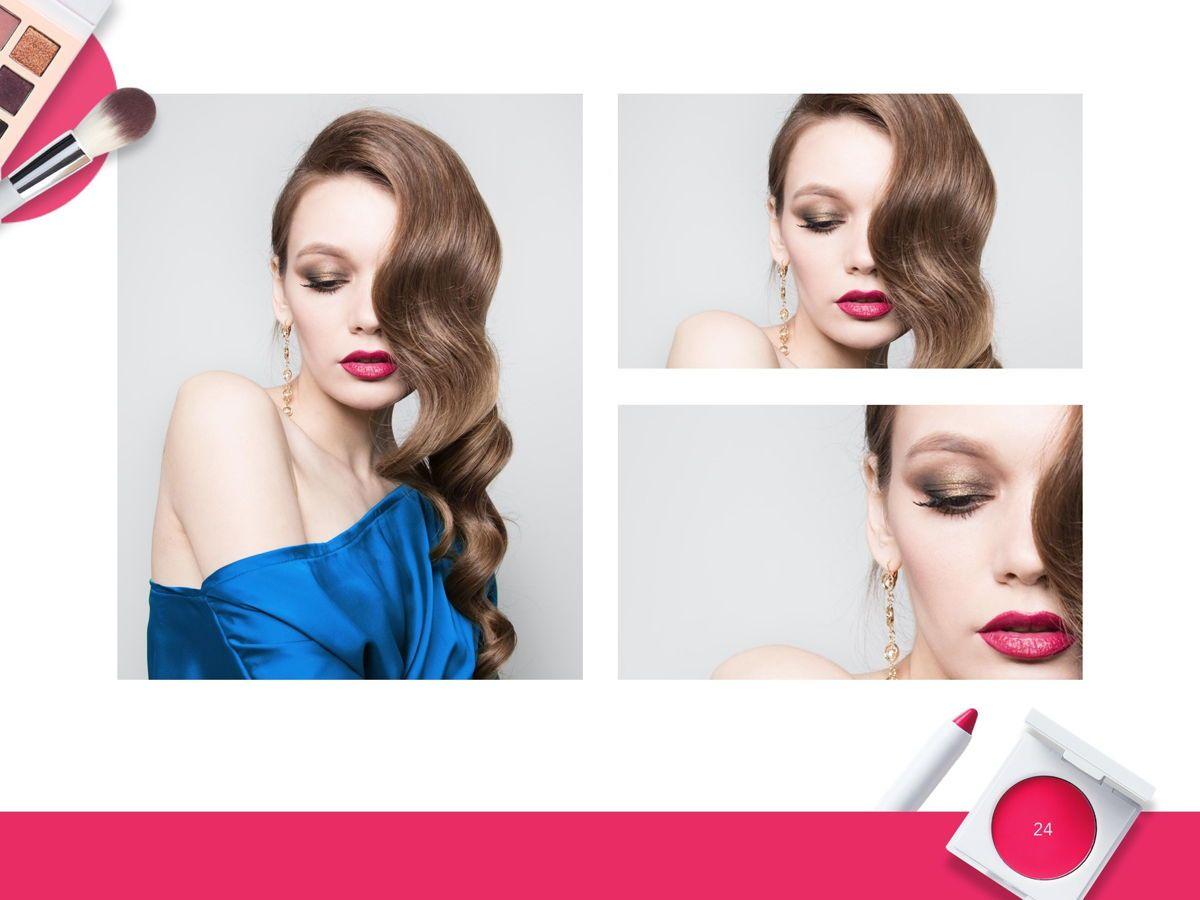Beauty Makeup Google Slides Theme, Slide 25, 05088, Presentation Templates — PoweredTemplate.com