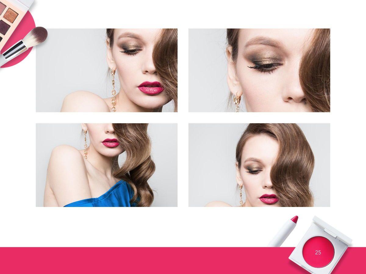 Beauty Makeup Google Slides Theme, Slide 26, 05088, Presentation Templates — PoweredTemplate.com