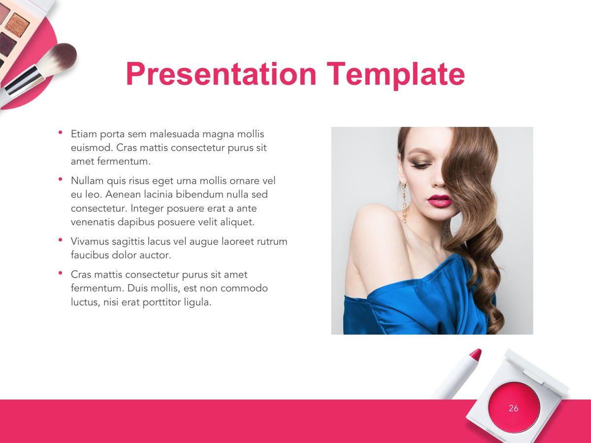 Beauty Makeup Google Slides Theme, Slide 27, 05088, Presentation Templates — PoweredTemplate.com