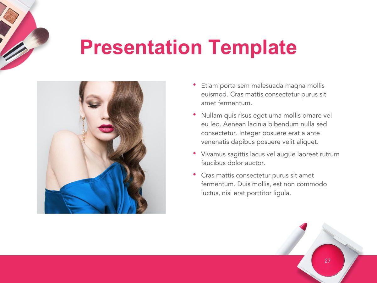 Beauty Makeup Google Slides Theme, Slide 28, 05088, Presentation Templates — PoweredTemplate.com