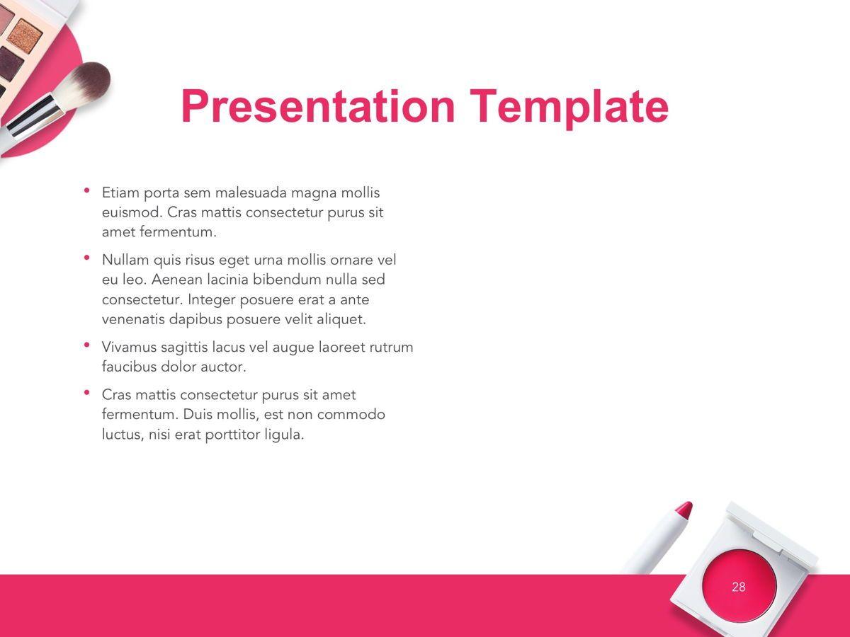 Beauty Makeup Google Slides Theme, Slide 29, 05088, Presentation Templates — PoweredTemplate.com