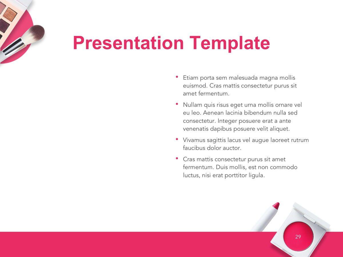 Beauty Makeup Google Slides Theme, Slide 30, 05088, Presentation Templates — PoweredTemplate.com