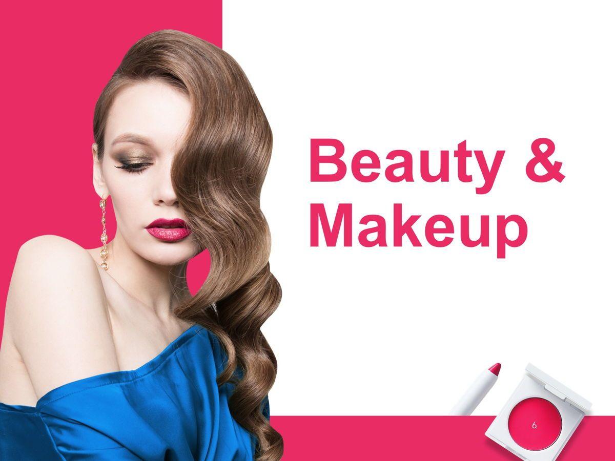 Beauty Makeup Google Slides Theme, Slide 7, 05088, Presentation Templates — PoweredTemplate.com
