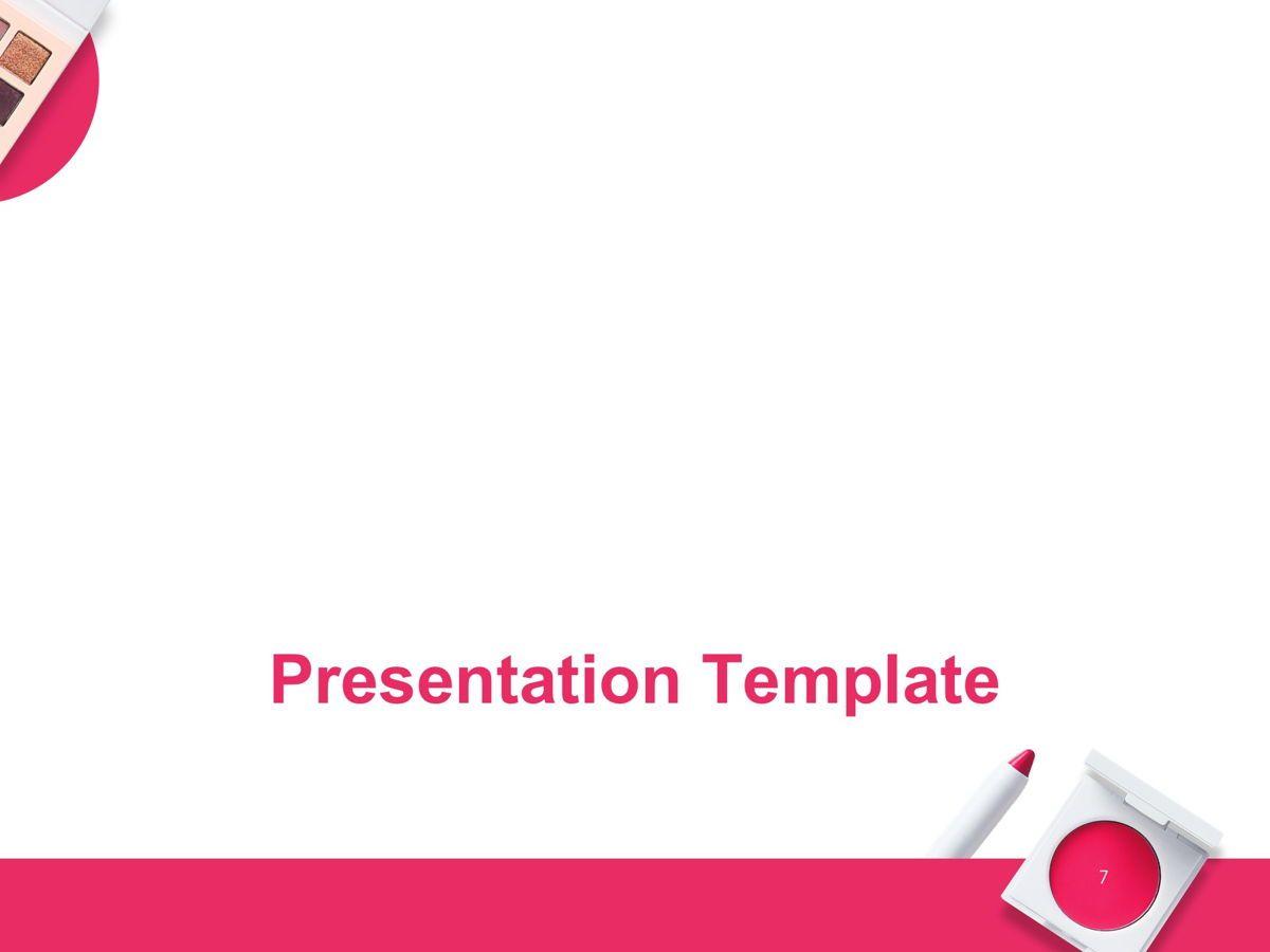 Beauty Makeup Google Slides Theme, Slide 8, 05088, Presentation Templates — PoweredTemplate.com