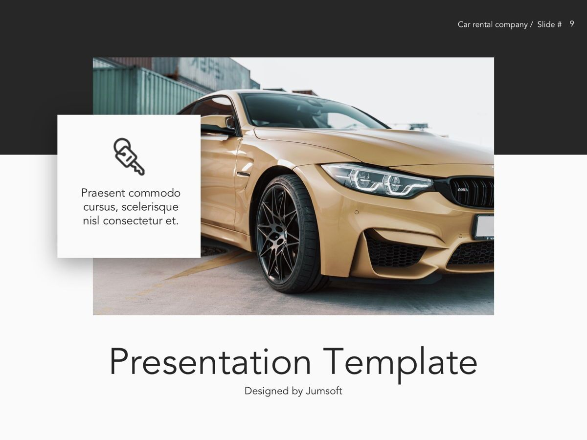 Car Rental Google Slides Theme, Slide 10, 05089, Presentation Templates — PoweredTemplate.com