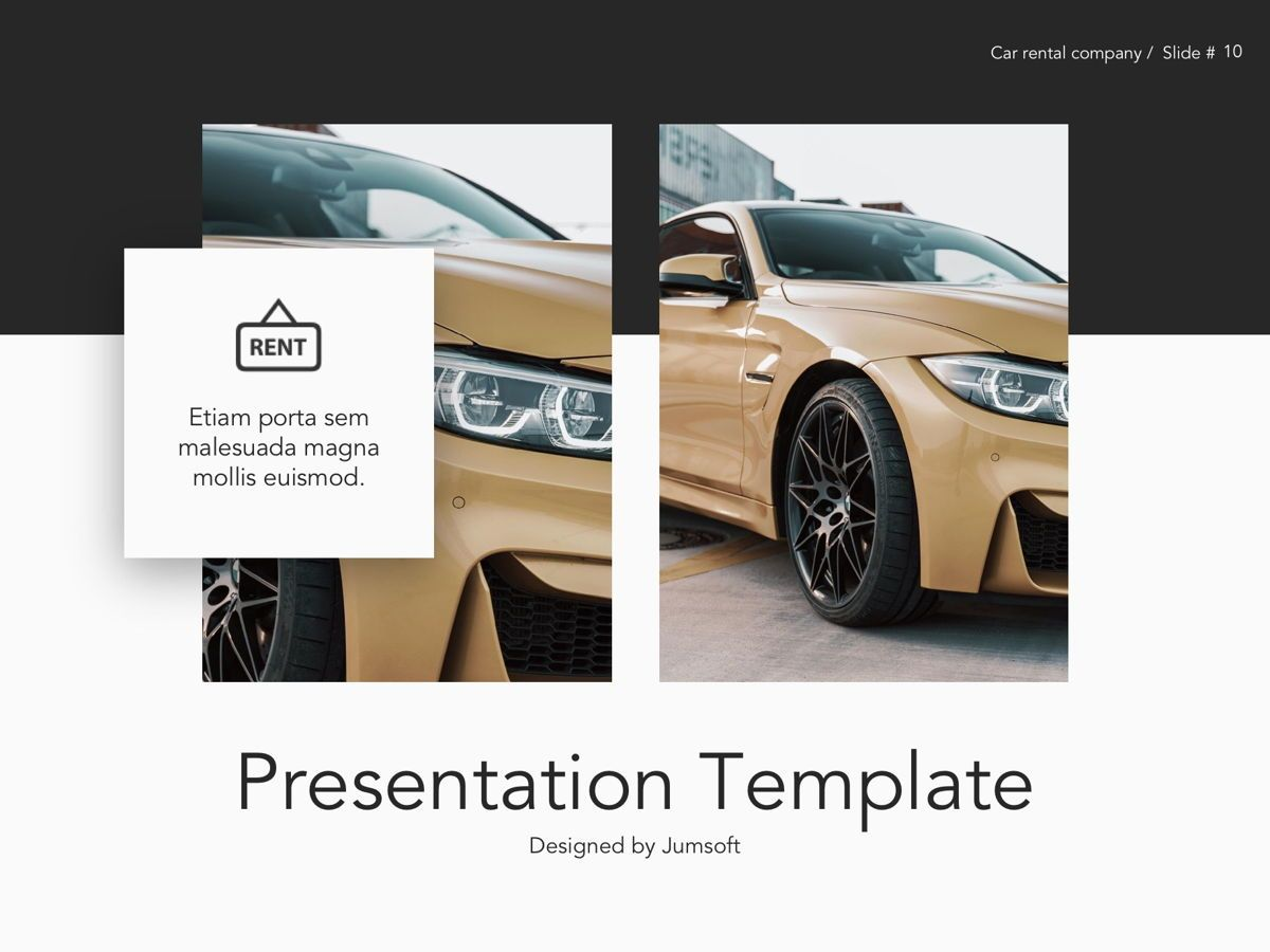 Car Rental Google Slides Theme, Slide 11, 05089, Presentation Templates — PoweredTemplate.com