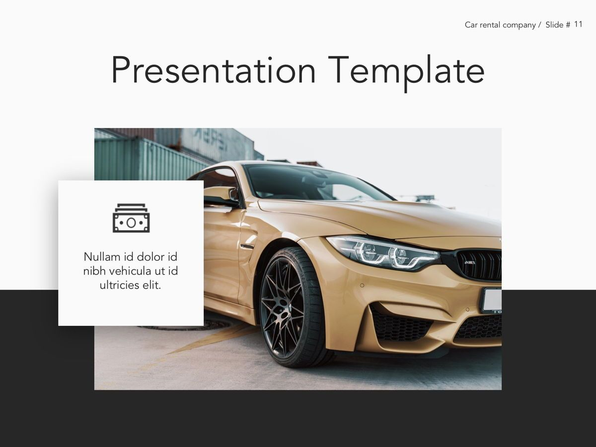 Car Rental Google Slides Theme, Slide 12, 05089, Presentation Templates — PoweredTemplate.com