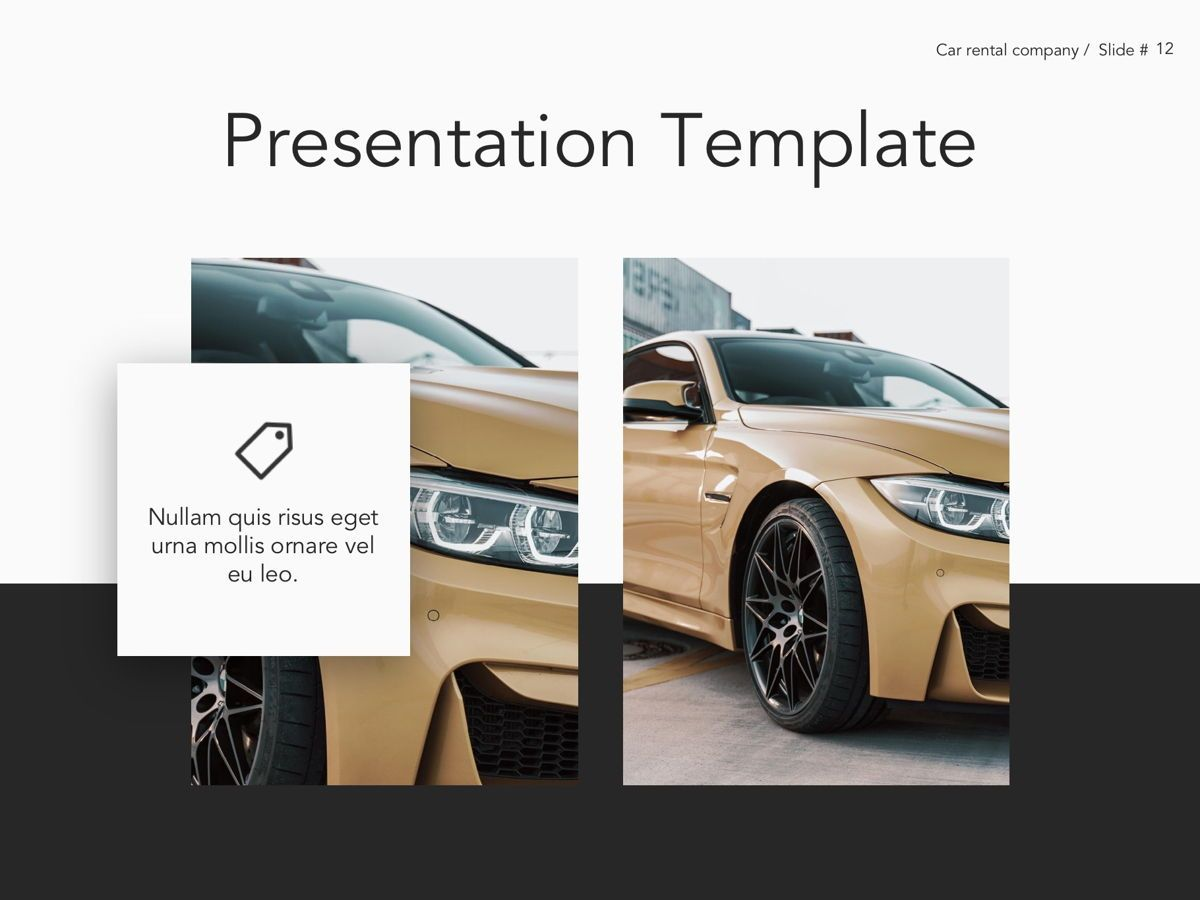 Car Rental Google Slides Theme, Slide 13, 05089, Presentation Templates — PoweredTemplate.com