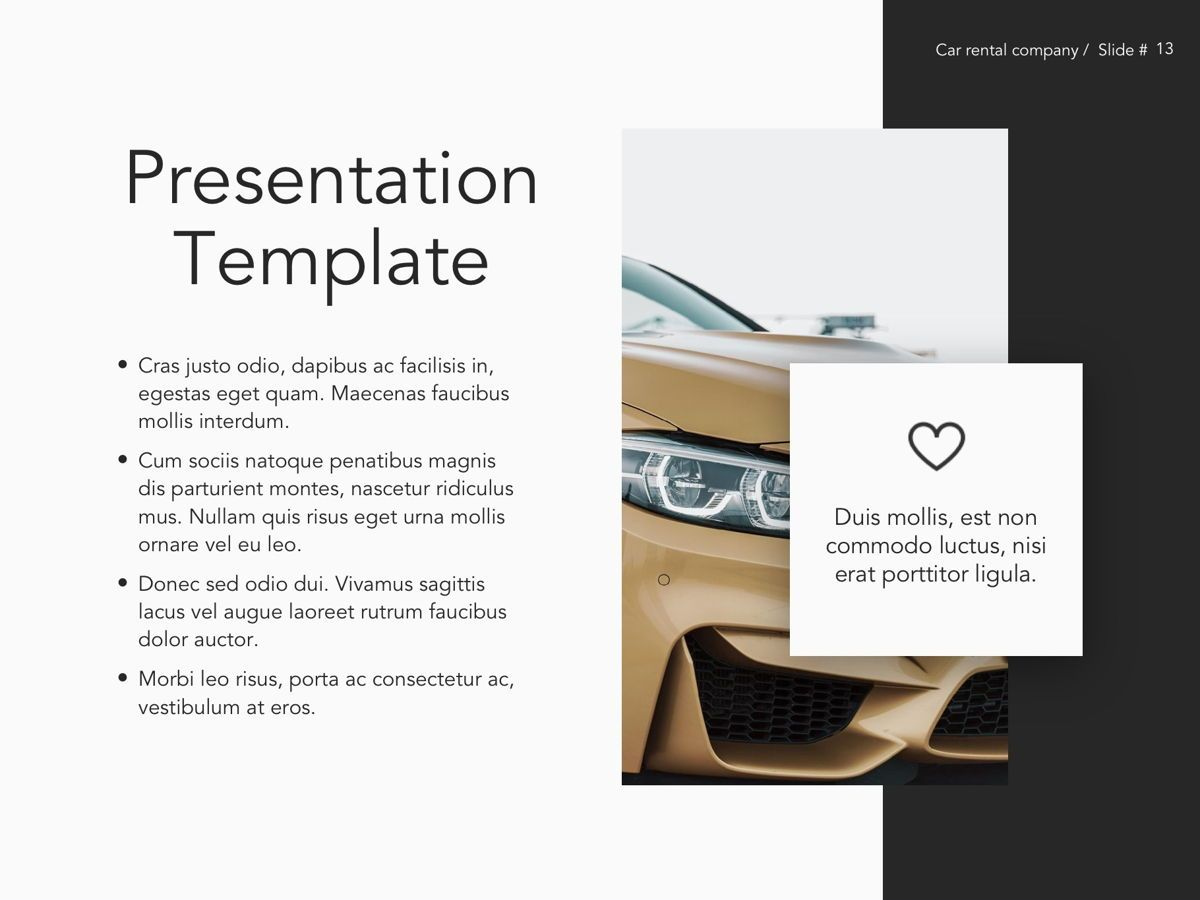 Car Rental Google Slides Theme, Slide 14, 05089, Presentation Templates — PoweredTemplate.com