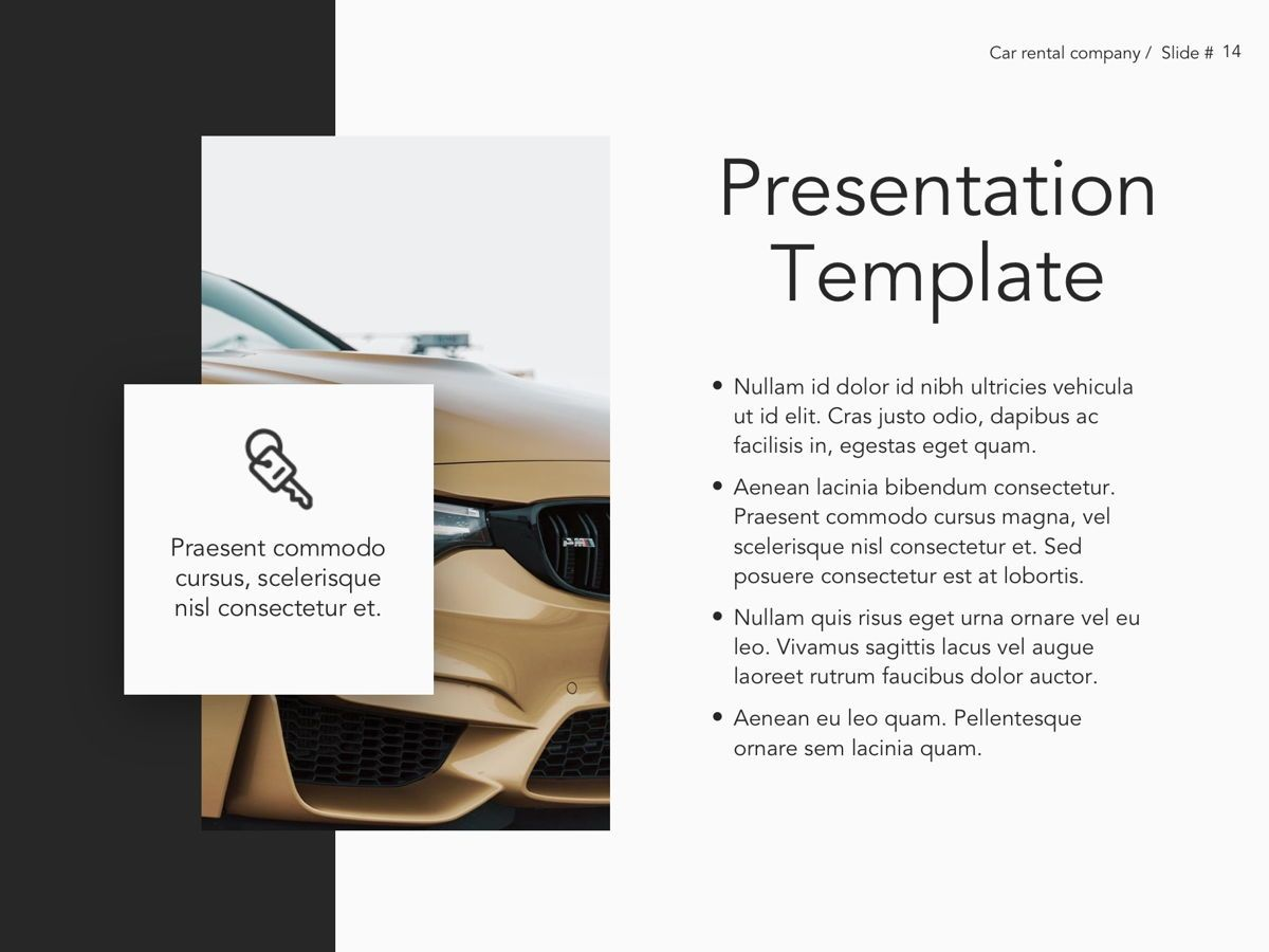 Car Rental Google Slides Theme, Slide 15, 05089, Presentation Templates — PoweredTemplate.com