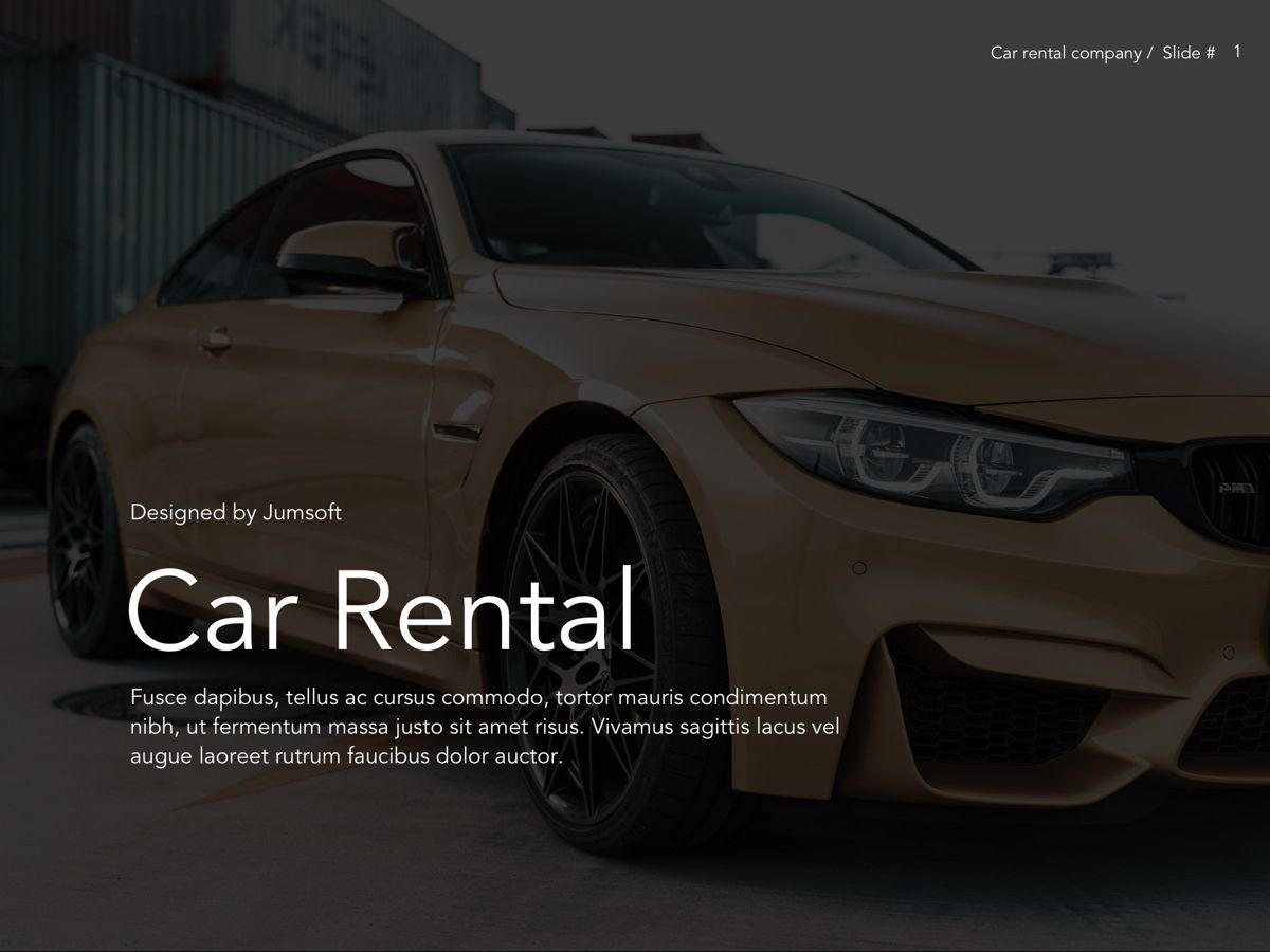 Car Rental Google Slides Theme, Slide 2, 05089, Presentation Templates — PoweredTemplate.com