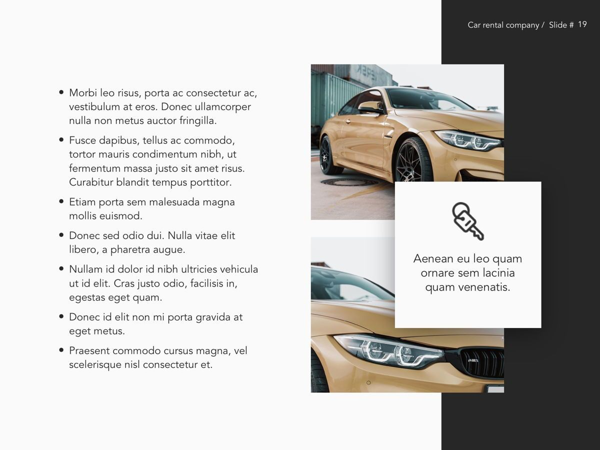 Car Rental Google Slides Theme, Slide 20, 05089, Presentation Templates — PoweredTemplate.com