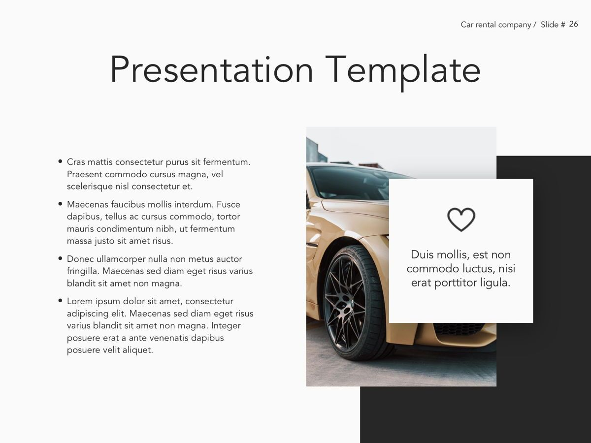 Car Rental Google Slides Theme, Slide 27, 05089, Presentation Templates — PoweredTemplate.com