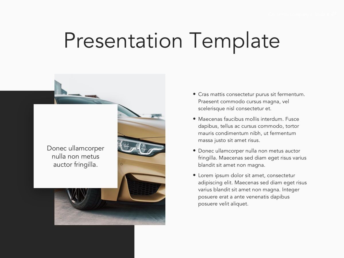 Car Rental Google Slides Theme, Slide 28, 05089, Presentation Templates — PoweredTemplate.com