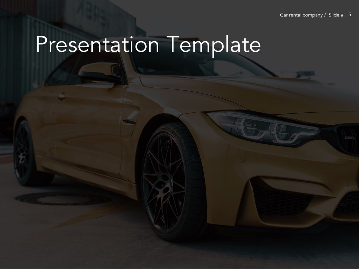 Car Rental Google Slides Theme, Slide 6, 05089, Presentation Templates — PoweredTemplate.com