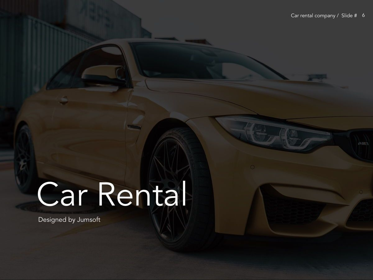 Car Rental Google Slides Theme, Slide 7, 05089, Presentation Templates — PoweredTemplate.com