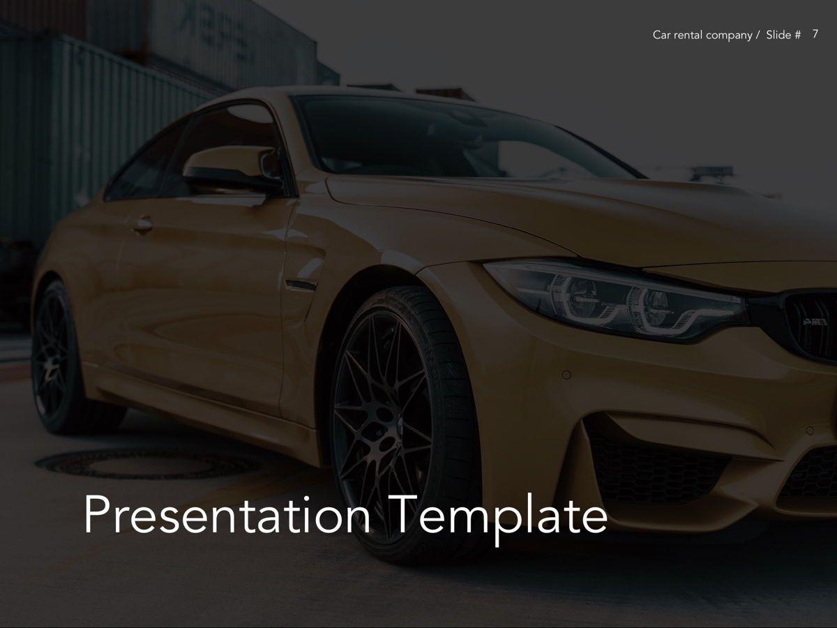 Car Rental Google Slides Theme, Slide 8, 05089, Presentation Templates — PoweredTemplate.com