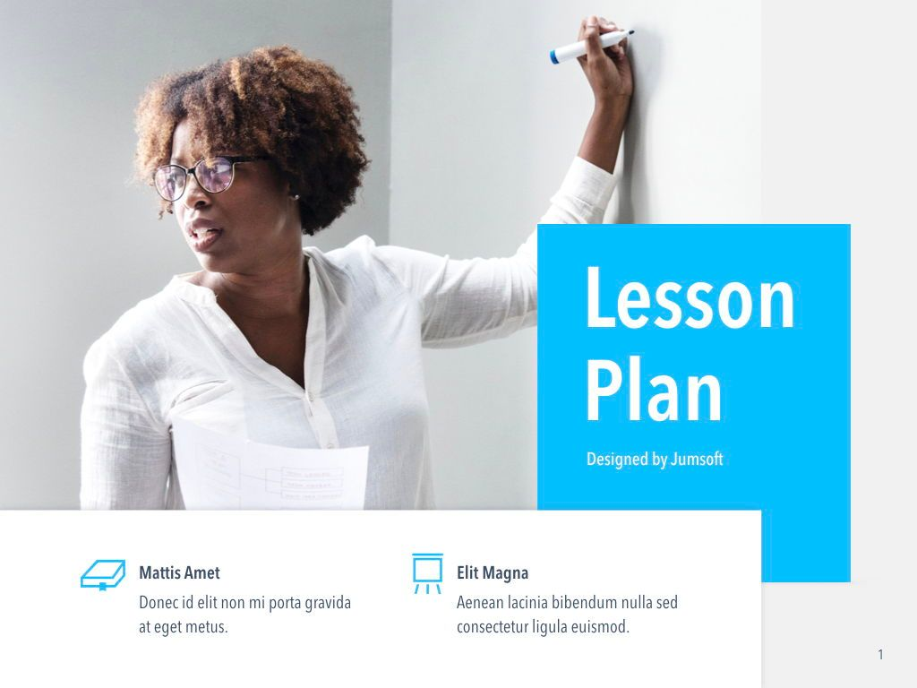 Lesson Plan PowerPoint Template, Slide 2, 05090, Education Charts and Diagrams — PoweredTemplate.com