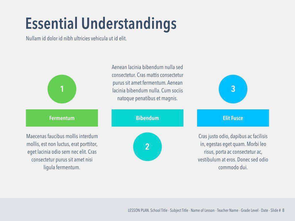 Lesson Plan PowerPoint Template, Slide 9, 05090, Education Charts and Diagrams — PoweredTemplate.com