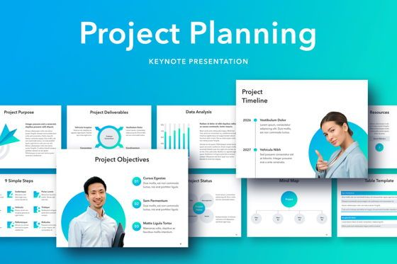 Presentation Templates: Project Planning Keynote Template #05091