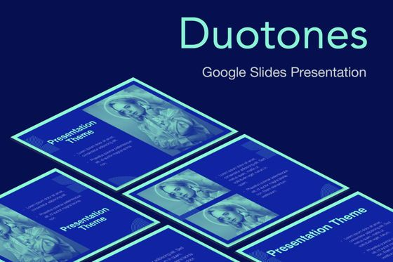 Presentation Templates: Duotones Google Slides Template #05093