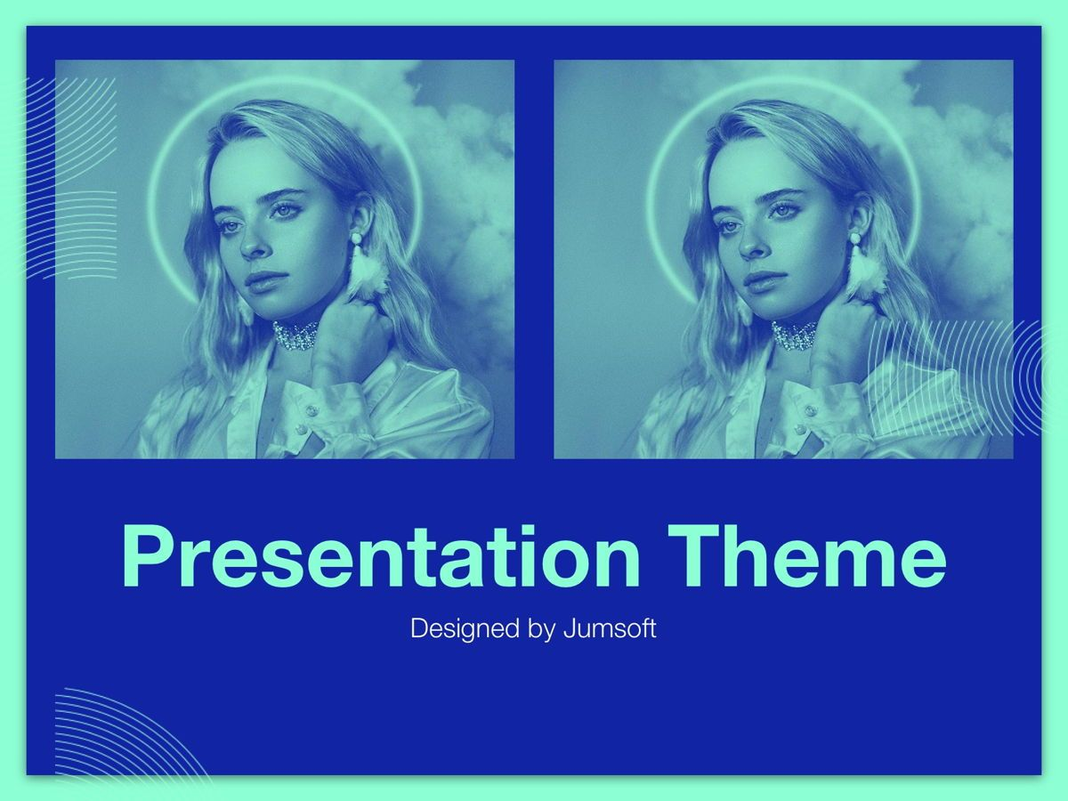 Duotones Google Slides Template, Slide 11, 05093, Presentation Templates — PoweredTemplate.com