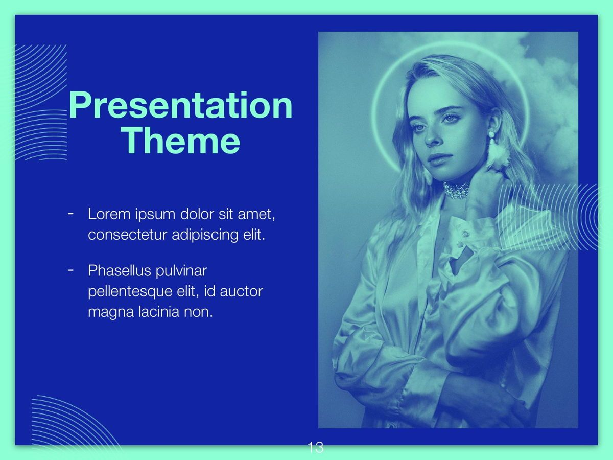 Duotones Google Slides Template, Slide 14, 05093, Presentation Templates — PoweredTemplate.com