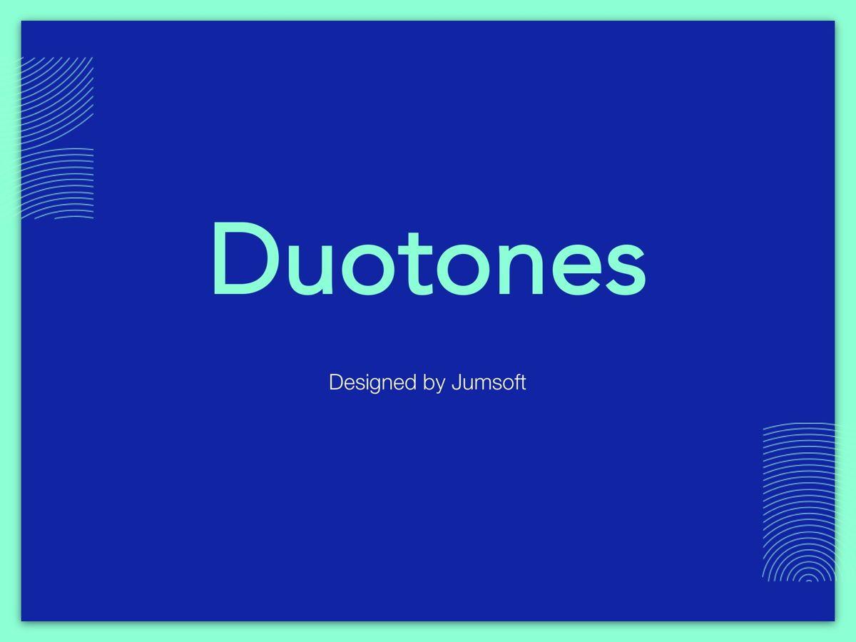 Duotones Google Slides Template, Slide 2, 05093, Presentation Templates — PoweredTemplate.com