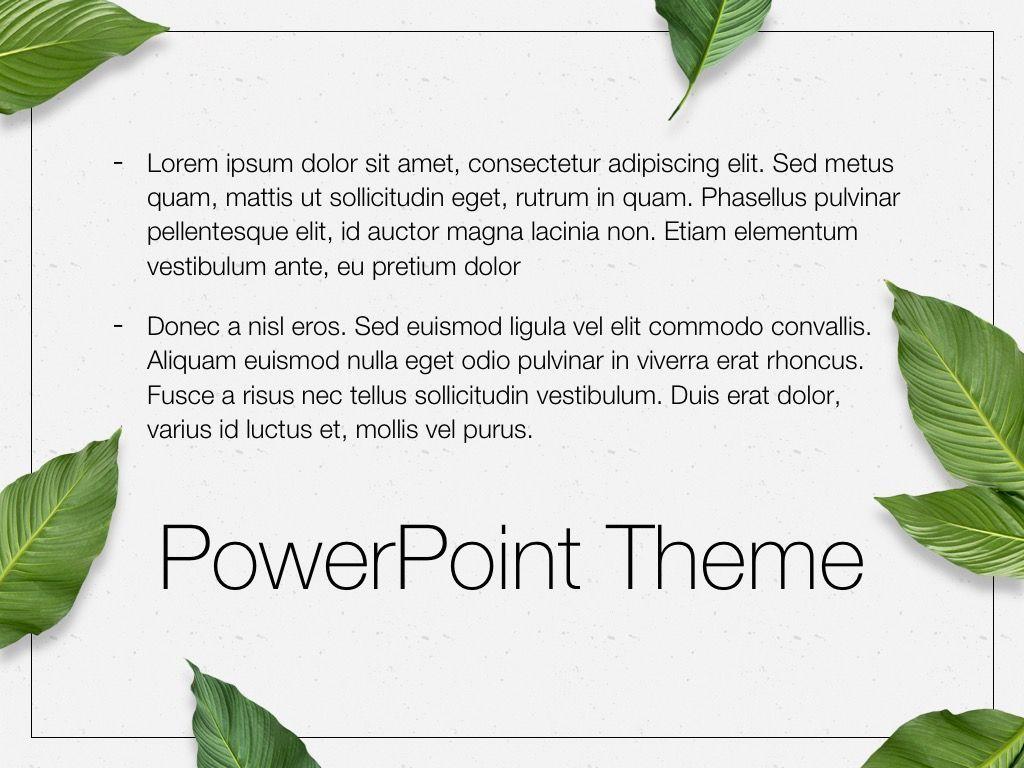 In Green PowerPoint Theme, Slide 12, 05094, Presentation Templates — PoweredTemplate.com