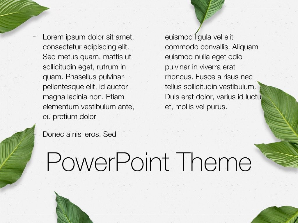 In Green PowerPoint Theme, Slide 13, 05094, Presentation Templates — PoweredTemplate.com