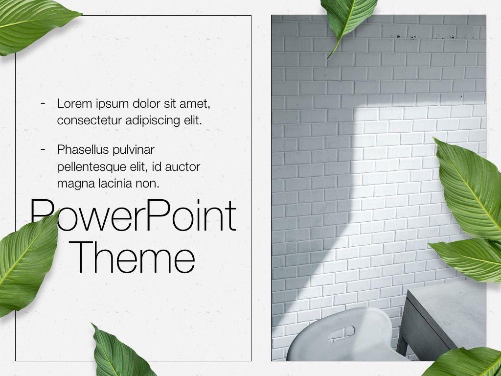 In Green PowerPoint Theme, Slide 19, 05094, Presentation Templates — PoweredTemplate.com