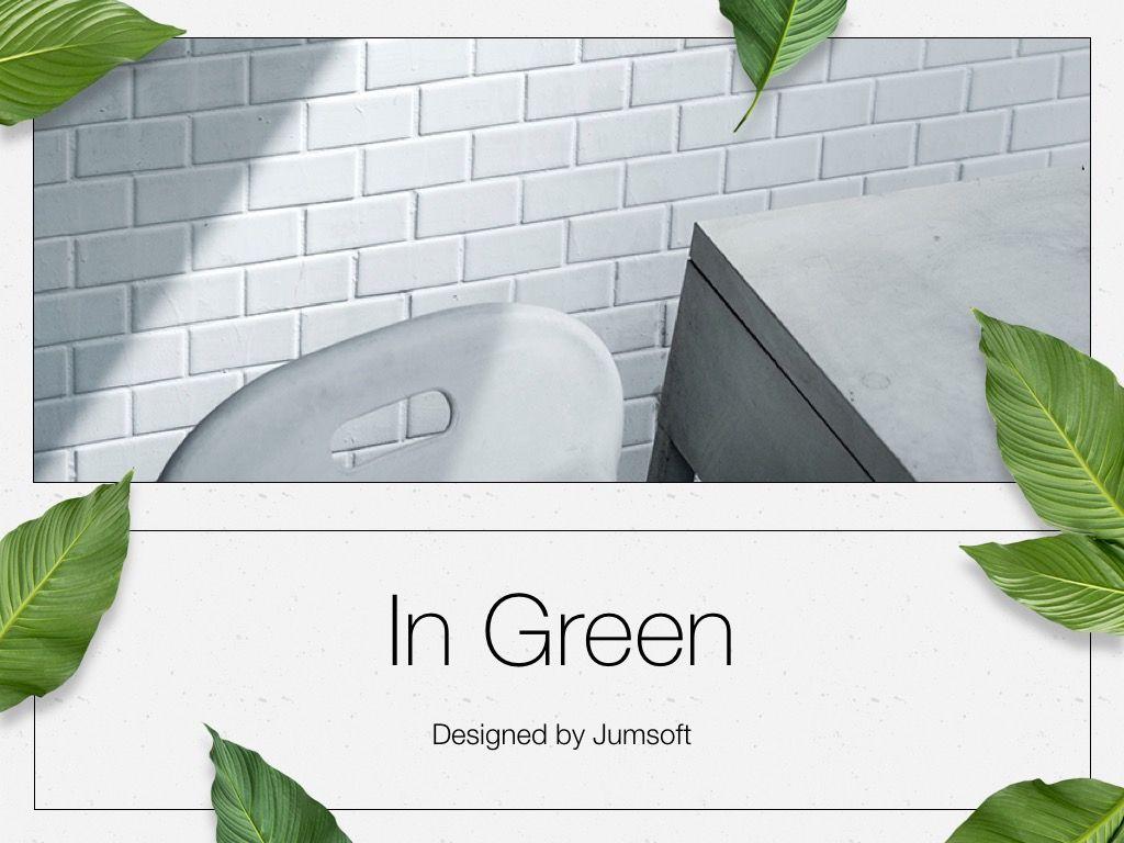 In Green PowerPoint Theme, Slide 2, 05094, Presentation Templates — PoweredTemplate.com