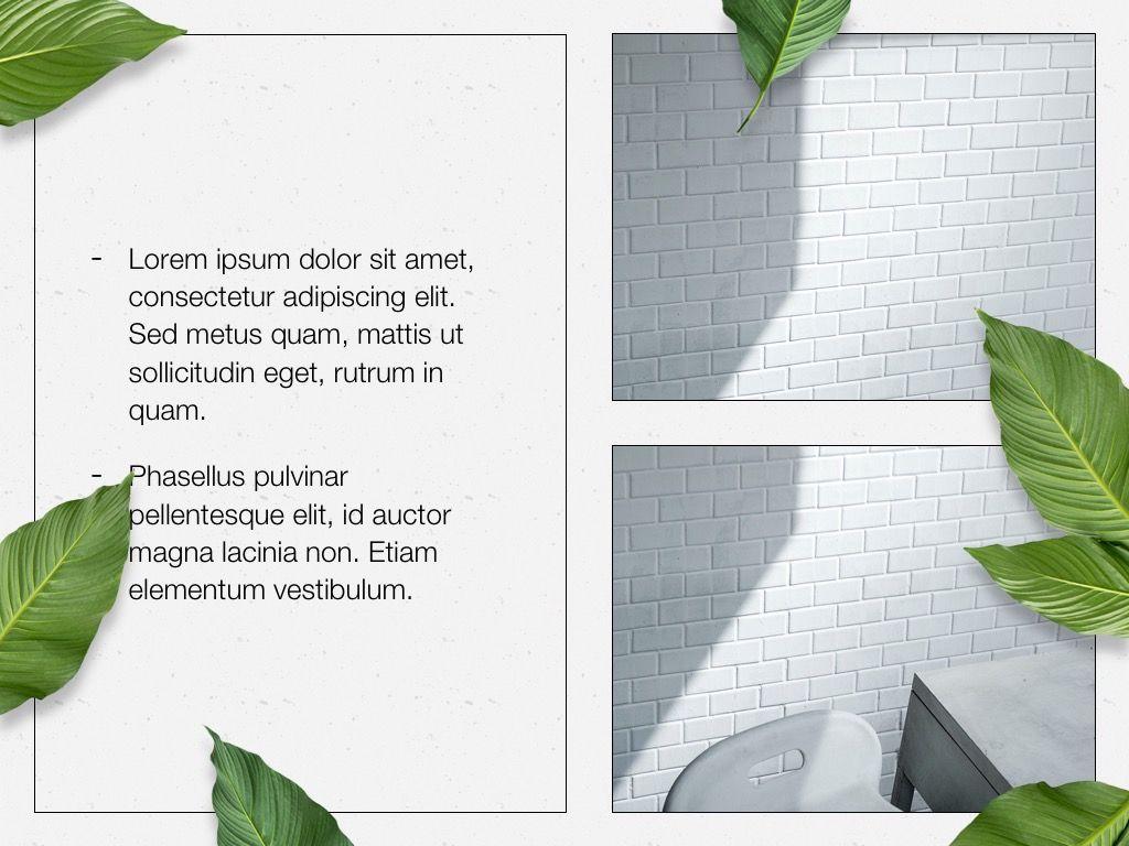 In Green PowerPoint Theme, Slide 23, 05094, Presentation Templates — PoweredTemplate.com